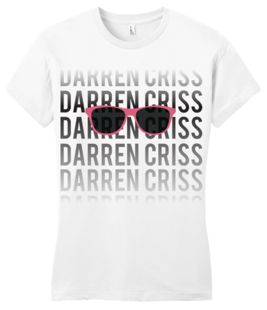 Darren Criss Fading Name Girly White Blank with Depth Front