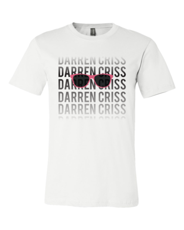 Darren Criss Fading Name Standard White Blank with Depth Front