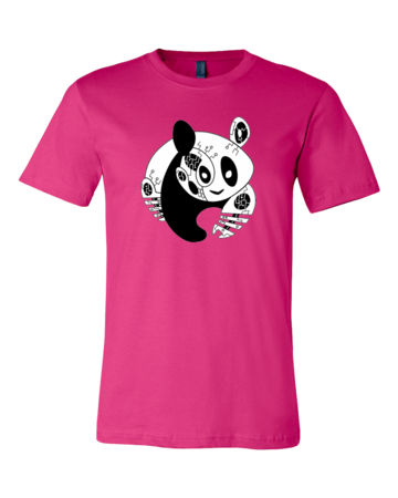 Joe Moses Panda Logo Tee Standard Hot Pink Blank with Depth Front