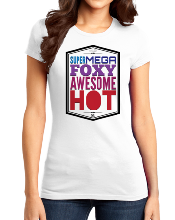StarKid A Very Potter Musical Supermegafoxyawesomehot Girly White Stock Model Front 1 Thumb