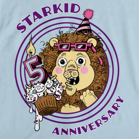 StarKid Rumbleroar 5th Anniversary T-shirt Light blue art preview