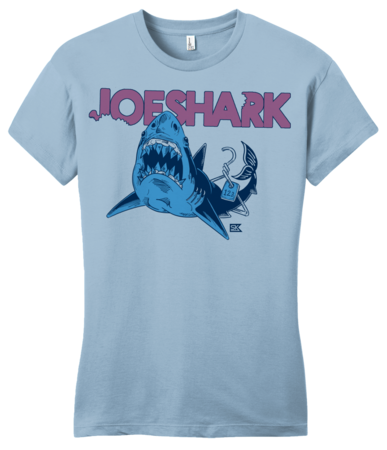 StarKid Joeshark Tee from 1-2-3-Ever Girly Light blue Blank with Depth