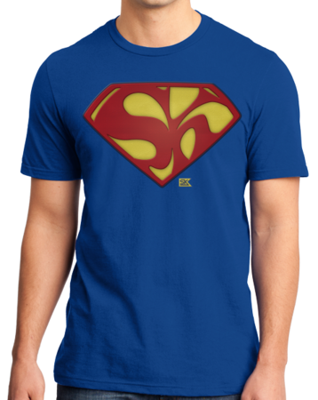 Starkid Holy Musical, B@man! Superman Logo Standard Royal Stock Model Front 1 Thumb