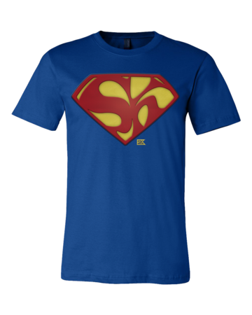 Starkid Holy Musical, B@man! Superman Logo Standard Royal Blank with Depth
