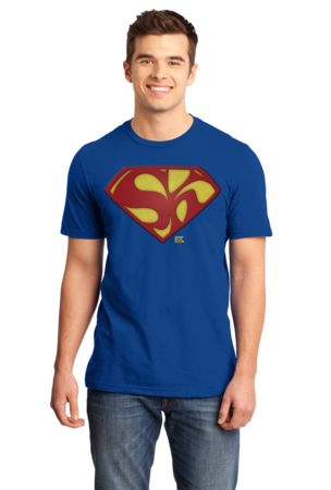 Starkid Holy Musical, B@man! Superman Logo Standard Royal Stock Model Front 1