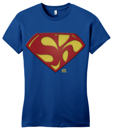Starkid Holy Musical, B@man! Superman Logo Girly Royal Blank with Depth