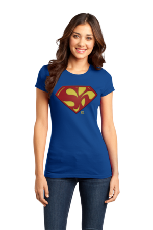 Starkid Holy Musical, B@man! Superman Logo Girly Royal Stock Model Front 1