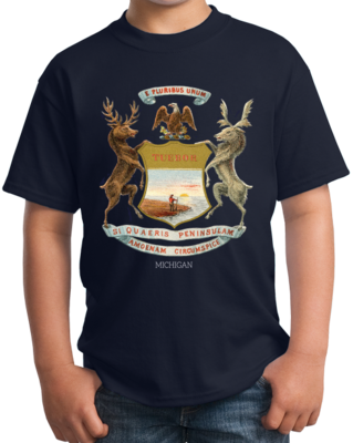 1876 Michigan Flag - Michigan Heritage Flag 1876 History Pride T-shirt