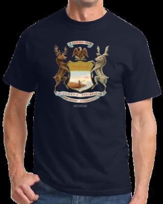 Old Michigan Flag T-shirt