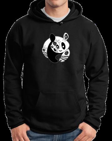 Joe Moses Panda Pullover Hoodie Pullover Hoodie Black Stock Model Front 1 Thumb Front