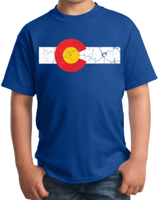 Colorado State Flag Distressed T-shirt