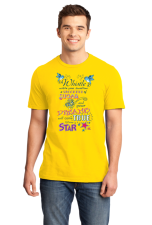 StarKid Twisted Spoonful Lyrics Tee Standard Yellow Stock Model Front 1