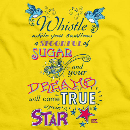 StarKid Twisted Spoonful Lyrics Tee Yellow Art Preview