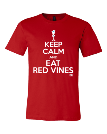 StarKid Keep Calm and Eat Red Vines Standard Red Blank with Depth