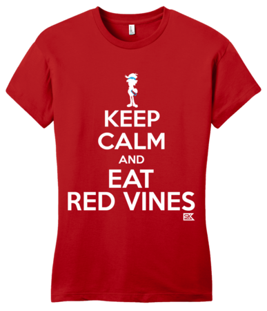 StarKid Keep Calm and Eat Red Vines Girly Red Blank with Depth