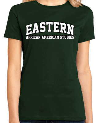 Eastern African American Studies Arched, Black Outline Design T-shirt