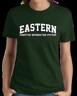 Eastern Computer Information Systems Arched, Black Outline Design T-shirt