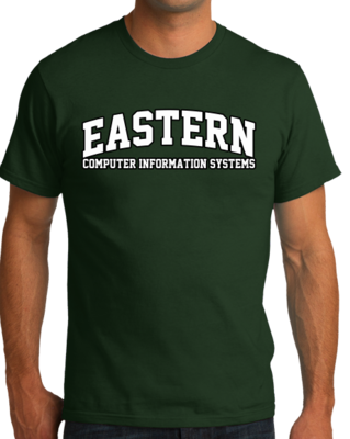 Eastern Computer Information Systems Arched, Black Outline Design T-shirt