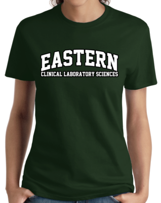 Eastern Clinical Laboratory Sciences Arched, Black Outline Design T-shirt