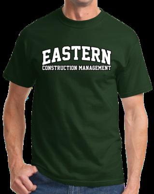 Eastern Construction Management Arched, Black Outline Design T-shirt