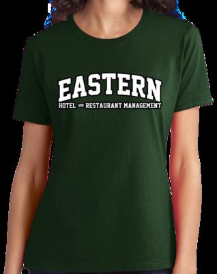 Eastern Hotel & Restaurant Management Arched, Black Outline Design T-shirt