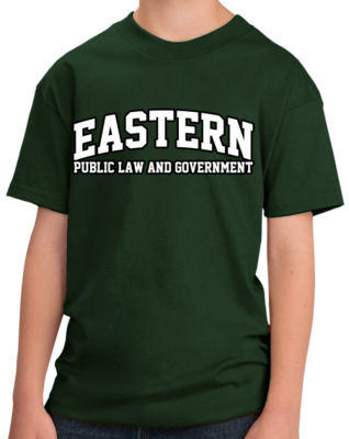 Eastern Public Law & Government Arched, Black Outline Design T-shirt