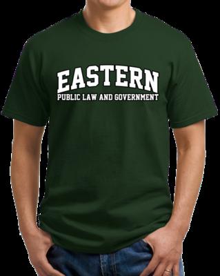 Eastern Public Law & Government Arched, Black Outline Design T-shirt