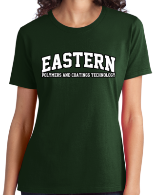 Eastern Polymers & Coatings Technology Arched, Black Outline Design T-shirt