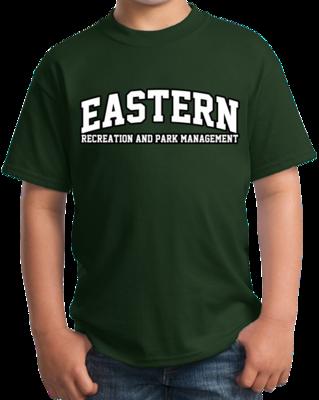 Eastern Recreation & Park Management Arched, Black Outline Design T-shirt