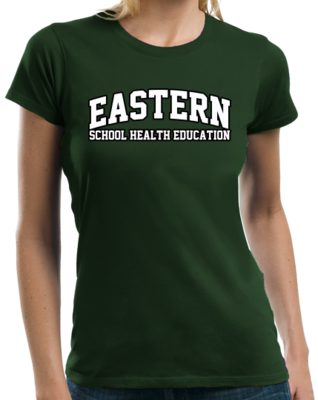 Eastern School Health Education Arched, Black Outline Design T-shirt