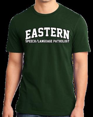 Eastern Speech/Language Pathology Arched, Black Outline Design T-shirt