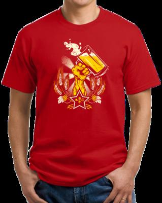 Epic Soviet Beer Print Homebrewer T-shirt