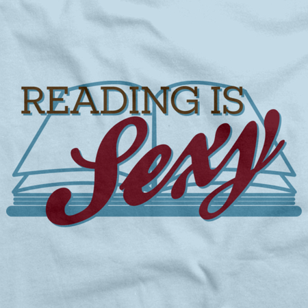Reading is Sexy | Smart People Pick-Up Line Light blue art preview