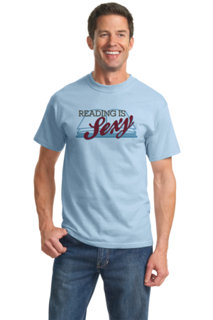 Reading is Sexy | Smart People Pick-Up Line Unisex Light blue Stock Model Front 2