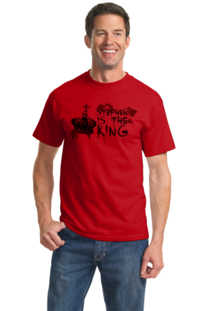 Stephen is the King Unisex Red Stock Model Front 2