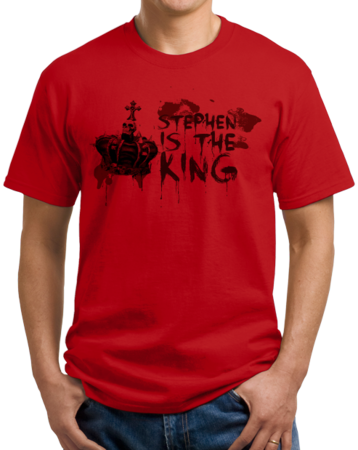 Stephen is the King Unisex Red Stock Model Front 1 Thumb