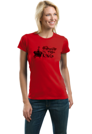 Stephen is the King Ladies Red Stock Model Front 2