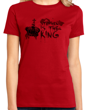 Stephen is the King Ladies Red Stock Model Front 1 Thumb