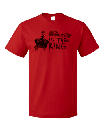Stephen is the King Unisex Red Blank with Depth