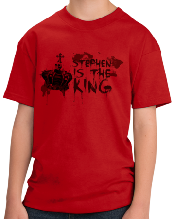 Stephen is the King Youth Red Stock Model Front 1 Thumb