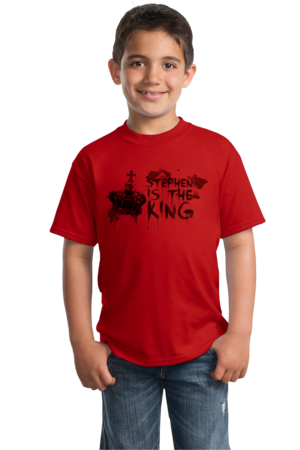 Stephen is the King Youth Red Stock Model Front 2