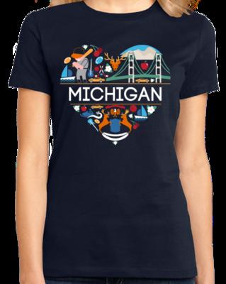 I Love Michigan   MI Pride T-shirt