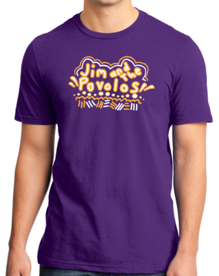 Jim and the Povolos Squiggly Name T-shirt