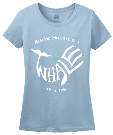 READING MELVILLE IS A WHALE OF A TIME Ladies Light blue Blank with Depth Front