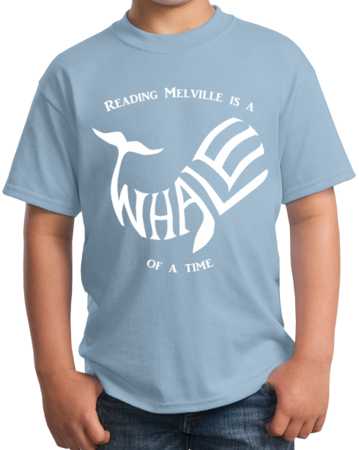 READING MELVILLE IS A WHALE OF A TIME Youth Light blue Stock Model Front 4 Thumb Front