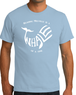 READING MELVILLE IS A WHALE OF A TIME T-shirt