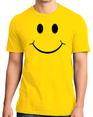 SMILEY FACE (SMILE) TEE! T-shirt