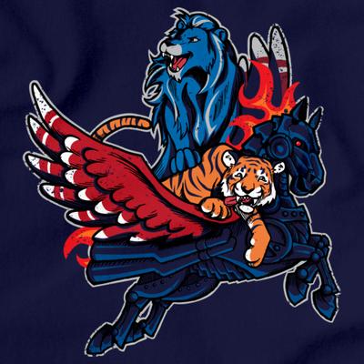 Detroit Sports Fan Mash-Up - Motown, Motor City Athletics T-shirt