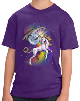 Unicorn Narwhal Duel - Mythical Creature Rainbow Funny T-shirt