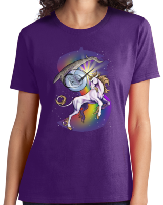 Unicorn Narwhal Duel T-shirt